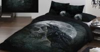 Alchemy 'Ravens Curse' Duvet & Pillows Case Covers Set f ...