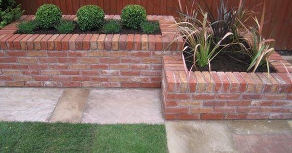 brick planters plant