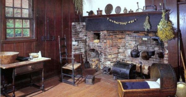 Boston  Paul Revere House  PrimitiveColonial Rooms with