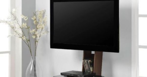 Space Saver TV Stand With MOUNT For TVs Up To 50 Glass