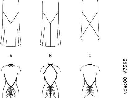 Vogue Patterns 7365 Evening gown pattern. Schematic