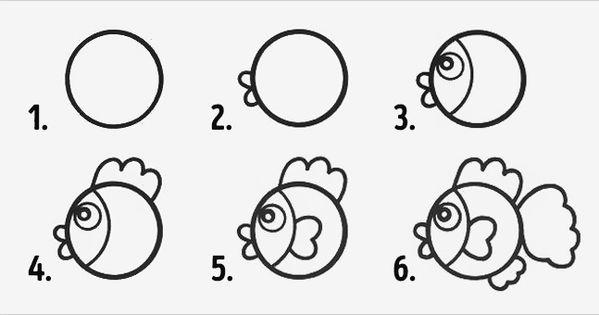 10 desenhos com círculos fáceis de fazer com crianças