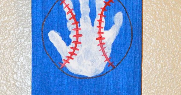 Sports Footprints and Hand Prints  The Keeper of the Cheerios Crafts  Pinterest  Footprints
