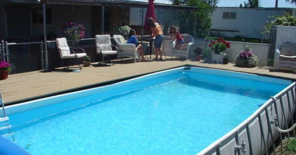 Decks For Intex Pools Around An Intex Pool Above