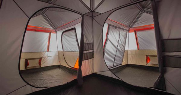 Ozark Trail 12 Person 3 Room LShaped Instant Cabin Tent