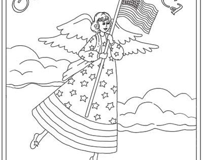 God Bless America coloring sheet with verse-free
