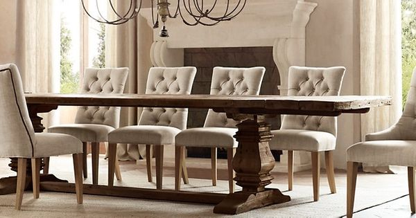 Restoration Hardware Salvaged Wood Trestle Table In Salvaged Brown Simply Beautiful For
