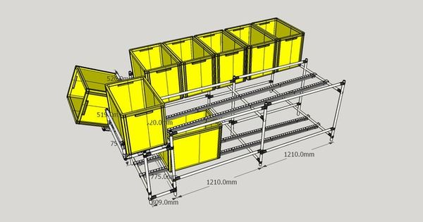 Fifo Rack Shelves 3D Warehouse WinterSim Pinterest