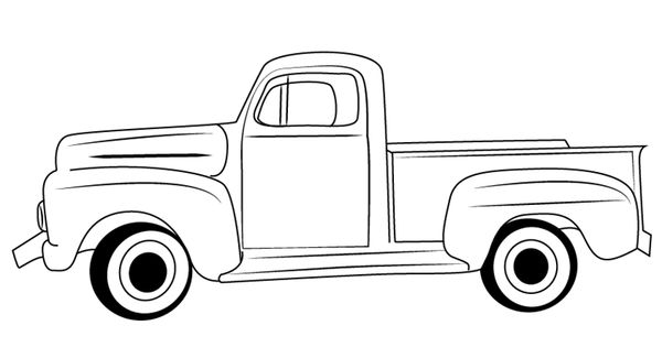 Learn How to Draw a Vintage Truck (Vintage) Step by Step