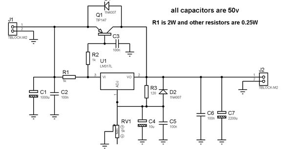 1.2-36V 5A Adjustable Power Supply with LM317