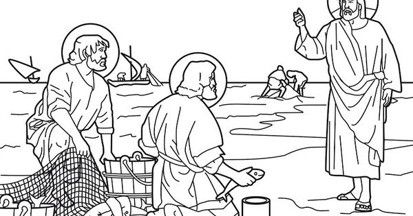 Jesus calls the fishermen Peter and Andrew to be his first