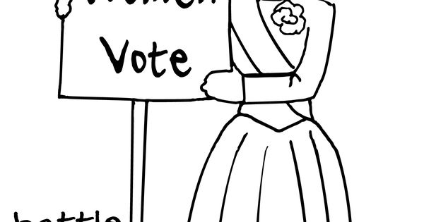 World History Coloring Pages Printables Women's Suffrage