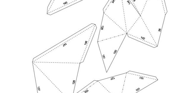 Papercraft rhino head printable DIY template by