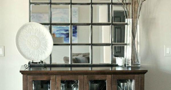 Pottery Barn Eagan Mirror Knock Off / DIY