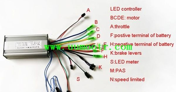 electric scooter motor controller wiring diagram elk vitals bike in addition wire connectors additionally ...
