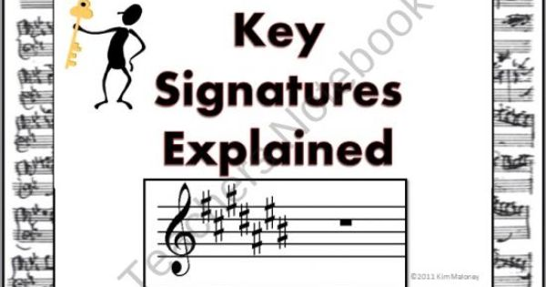 Keys and Key Signatures Explained Ppt and worksheets