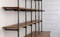 Gas pipe shelf and reclaimed wood. Would be a great media ...