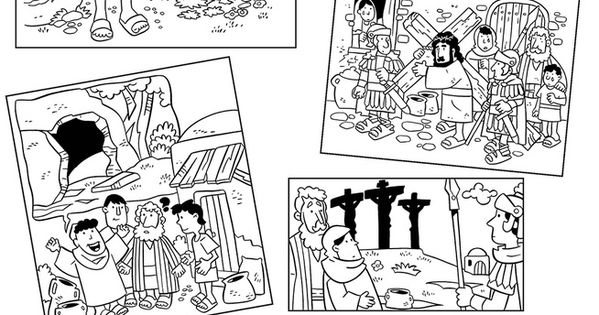 Easter story coloring pages. Also good for sequence game