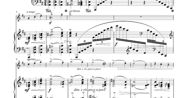 Waltz of the Flowers sheet music for violin and piano by