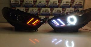 1314 Ford Fusion OEM Headlights LED Switchback DRL HID