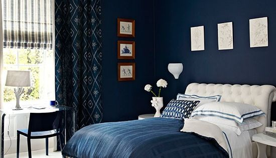 How to decorate with blue  Midnight blue bedroom Blue