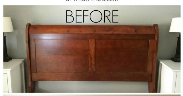 Gel StainCherry to Espresso Sleigh Bed  Before and After  As Seen On Willow White Studios