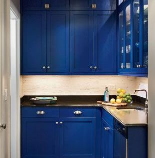 cobalt blue kitchen cabinets blue kitchens  Dream
