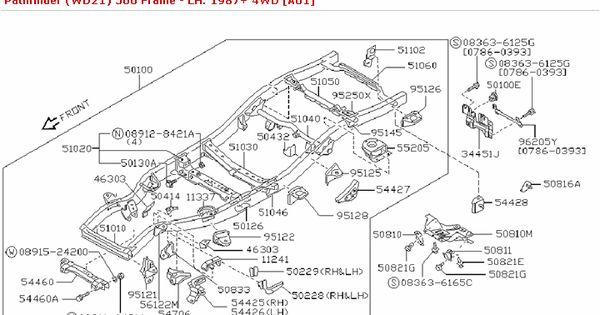 500 Frame :: Body(Front,Roof & Floor) :: Genuine Nissan