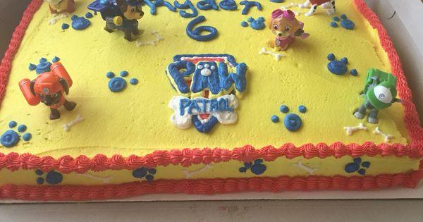 Paw Patrol Buttercream Sheet Cake Cakes Cupcakes And