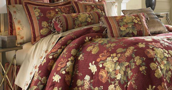 Cotswold Floral Comforter Set Burgundy  Comforters  Pinterest  Floral comforter Comforter