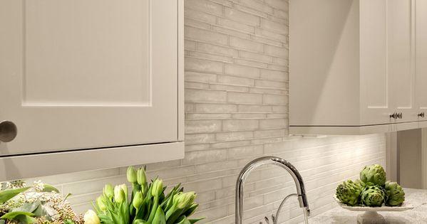 polished nickel kitchen faucet rustic lighting ideas backsplash tile : vetro by casa dolce in matte bianco ...