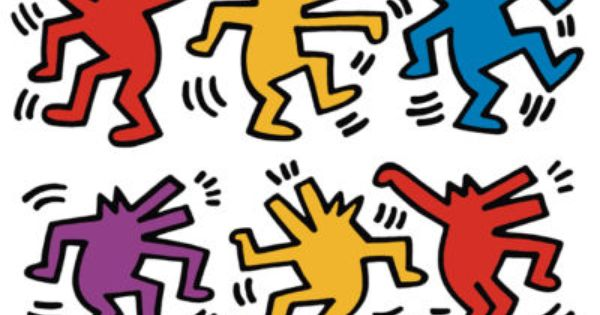 Keith Haring - Six Dancing Dogs
