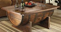 Handmade Vintage Oak Whiskey Barrel Coffee Table | Whiskey ...