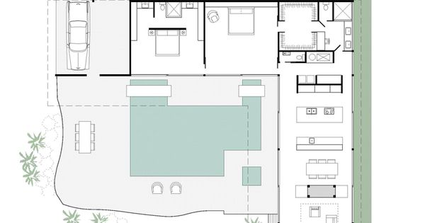 stahl house floor plan  main floor  Mid 20th Century  Pinterest
