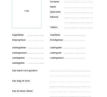 Kostenlose Steckbrief-Vorlage im Word-Format zum Download