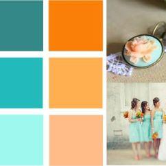 Burnt Orange Paint Color Living Room La Z Boy Furniture My Scheme. & Teal With Peach Aqua ...