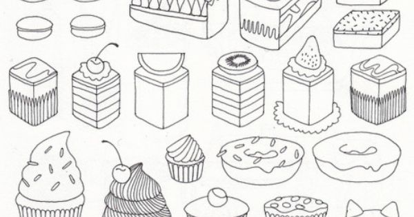 Cake More, cute drawings, nice to print out, for my little