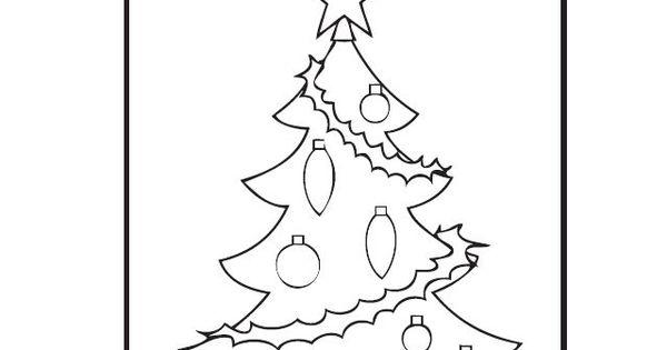 Pin Kerst Kleurplaat Kerstboom Versieren