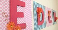 DIY Nursery Letters. Baby Name Wall Art. Eden. Modge Podge ...