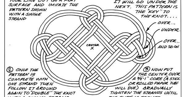 The decorative royal carrick bend can be fashioned into a