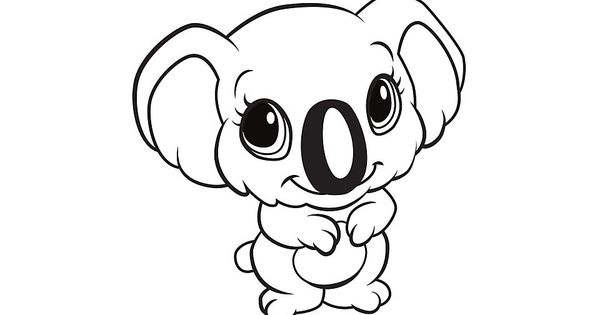 Learning Friends Koala coloring printable from LeapFrog