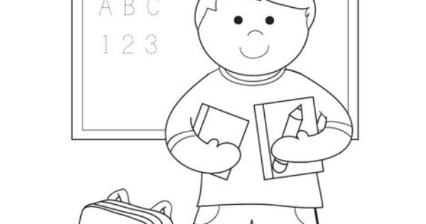 Welcome First Grade Coloring Page from TwistyNoodle.com