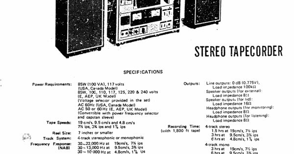 Sony TC-630 reel to reel tape recorder Service Manual 100