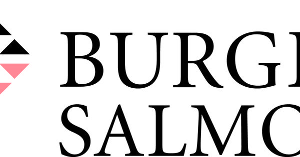 Burges Salmon wordmark using and intermediate red/violet