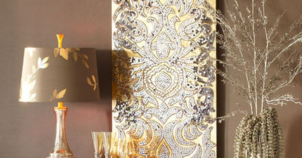 decorations for living room ideas free decorating champagne mirrored mosaic damask panel   damasks, wall ...