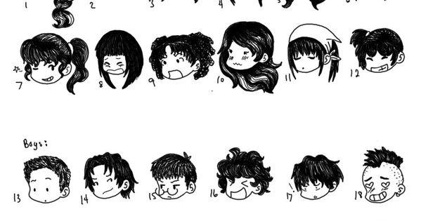 Chibi Hair Styles by SuperCatGirl.deviantart.com on