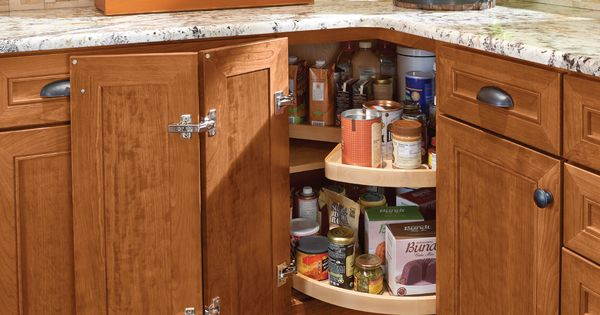 kraftmaid kitchens gallery childrens play kitchen sets the base cabinet shelves in wood super-susan revolve ...