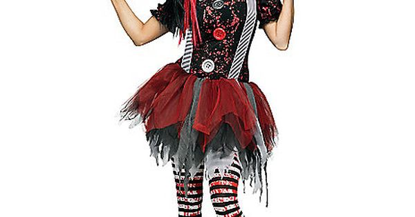 Horror Clown Adult Womens Costume
