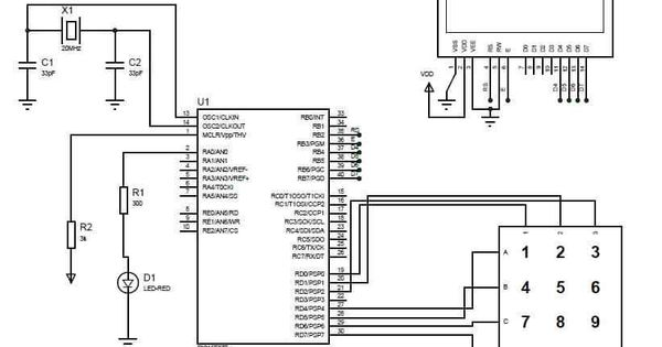 Electronic lock using pic microcontroller