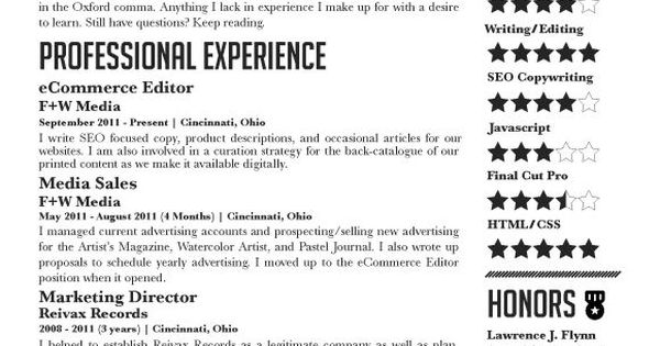 examples of well constructed resumes for jobs